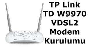 tp link td w9970 vdsl2 modem kurulumu