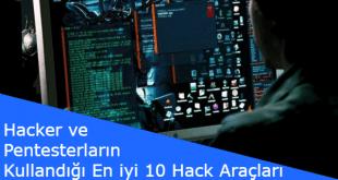 hacker programları, nasıl hacker olunur, hack nasıl yapılır, hack araçları,hacker ve pentesterların kullandığı en iyi 10 hack araçları,