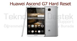 Ascend G7 Hard Reset