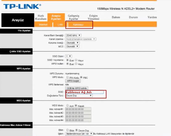 tp-link td-w8951nd modem kurulumu