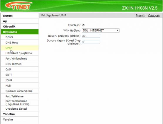 zte zxhn h108n port yönlendirme, zte zxhn h108n modem port yönlendirme, zte port açma, uzam masaüstü port açma,