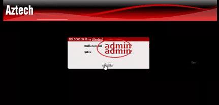 Aztech DSL5001en Modem Kurulumu Ekran Görüntüleri