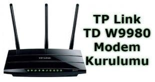 TP Link TD W9980 Modem Kurulumu Nasıl Yapılır