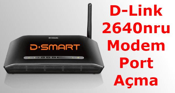 d-link 2640nru modem port açma, d-link modem port açma, d smart modem part açma, d-link 2640 nru port açma,