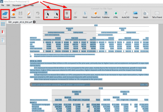 pdf excel çevirme, pdf excel dönüştürücü, pdf yi excele çevirme, pdf dosyasını excele çevirme, pdf den excele çevirme,Able2Extract Pro indir,PDF yi Excele Dönüştürme,