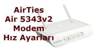 airties air 5343v2 modem hız ayarları, airties air modem hız ayarları, airties modem jız ayarları, airties a5343 modem hız ayarları,