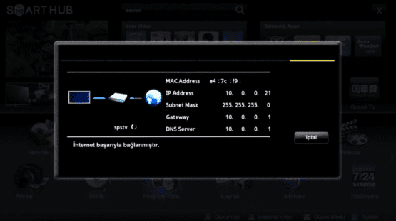 Samsung Smart TV İnternete Nasıl Bağlanır