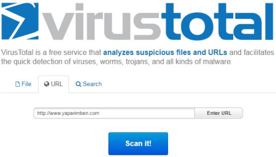 antivirüs programı kurmadan dosyalar nasıl taranır