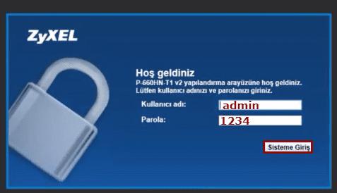 ZyXEL P660HN T1 v2 Modem Kurulumu yada kablosuz ayarları arayüz şifresi ıp adresi hakkında sorun yaşayana çözüm.