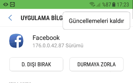 android facebook durduruldu, android telefonda facebook durduruldu hatasının çözümü,
