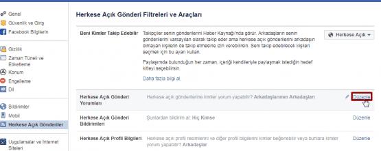 facebook paylaşımları yorumlara kapatma, facebook yorum kapatma, facede yorum kapatma