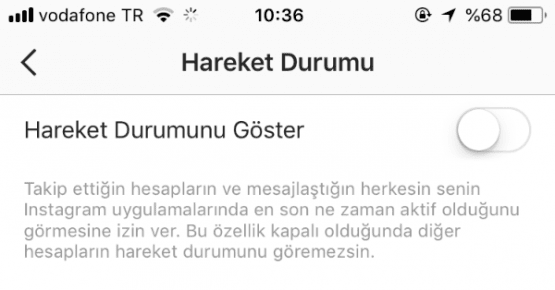 instagram son görülme kapatma iphone,