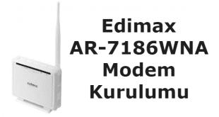 Edimax ar-7186wna modem kurulumu nasıl yapılır.