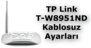 TP Link TD-W8951ND Kablosuz Ayarları, şifre değiştirme ve kanal ayarları