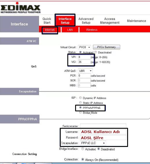 edimax ar-7186wna modem kurulumu