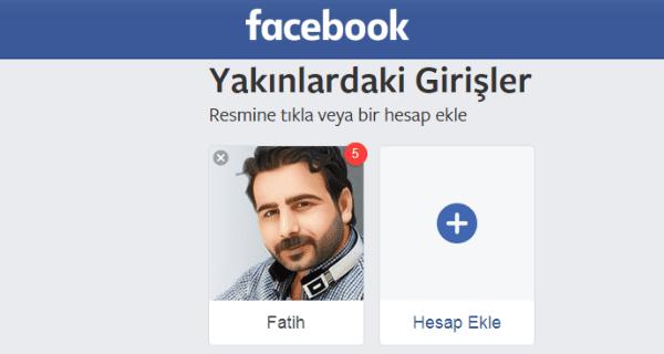 Facebook hesabıma profil resmiyle giriş yapma nasıl.