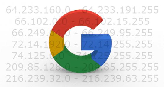 Google IP Adresi, Google tarafından kullanılan her IP adresinin listesi hazırladık.