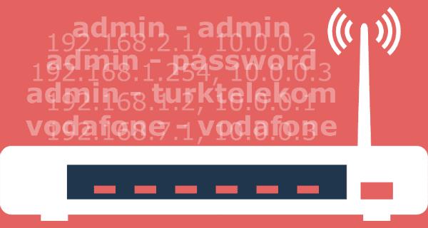 Modem Şifreleri ve IP Adresleri, tam 86 al farklı marka ve model modem giriş şifreleri paylaşılmıştır.