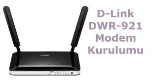 D-Link DWR-921 Modem Kurulumu Nasıl Yapılır