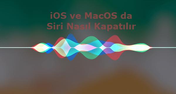 ios 10, ios 11 ios 12 ve MacOS da siri nasıl kapatılır