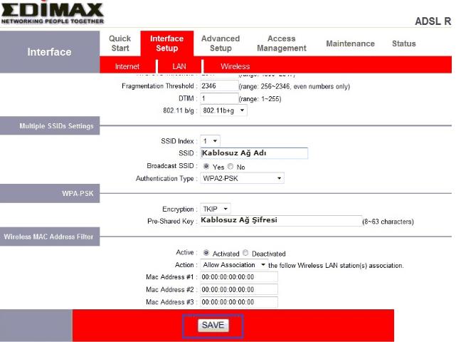 Edimax AR-7284WnA Modem Kurulumu
