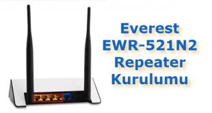 Everest EWR-521N2 Repeater Kurulumu