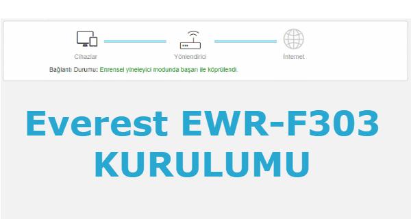 Everest EWR-F303 Kurulumu Nasıl Yapılır
