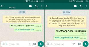 WhatsApp Yazı Boyutunu Değiştirme