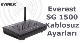 Everest SG 1500 Kablosuz Ayarları Nasıl Yapılır