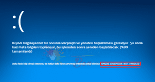 Kmode Exception Not Handled Hatası ve Çözümü