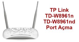 TP Link TD-W8961n Port Açma Nasıl Yapılır