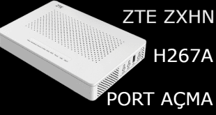 ZTE ZXHN H267A Modem Port Açma