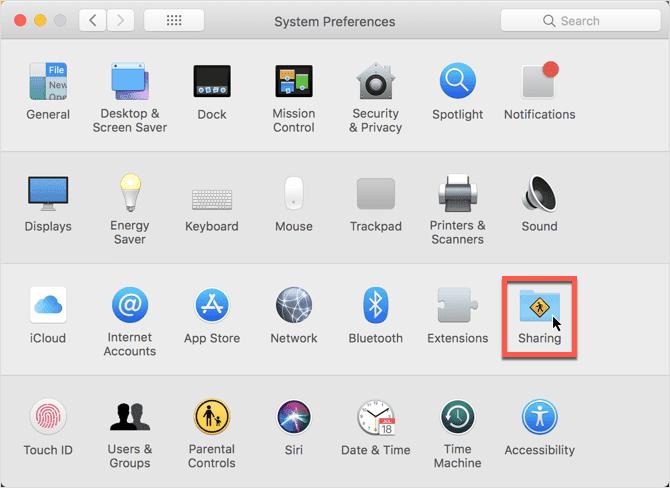 MacOS Hotspot Ayarları