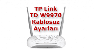 TD W9970 Kablosuz Ayarları