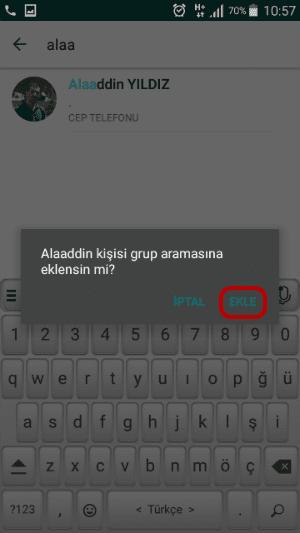 WhatsApp Gurup Araması