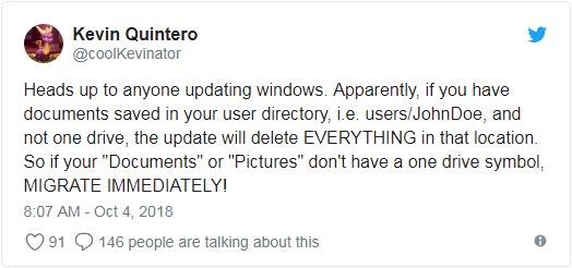 Bu Windows 10 Güncellemesi Dosyalarınızı Silecek