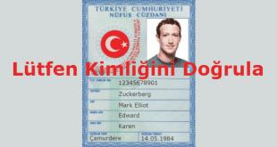 Facebook Lütfen Kimliğini Doğrula