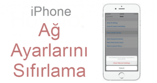 iPhone Ağ Ayarlarını Sıfırlama