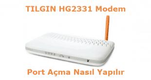 Tılgın HG2331 Modem Port Açma