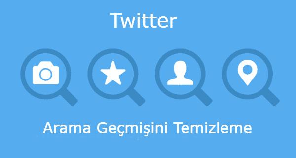 Twitter Arama Geçmişini Temizleme