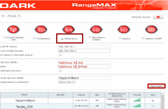 Dark RangeMAX WRT350 Router Kurulumu