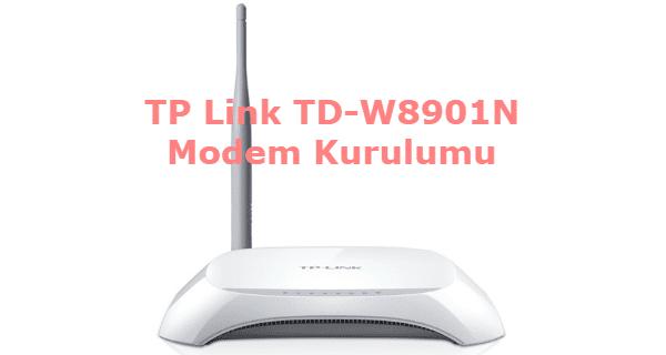 TP Link TD-W8901N Modem Kurulumu