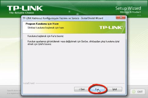 TP-Link TL-WN822N Adaptör Kurulumu