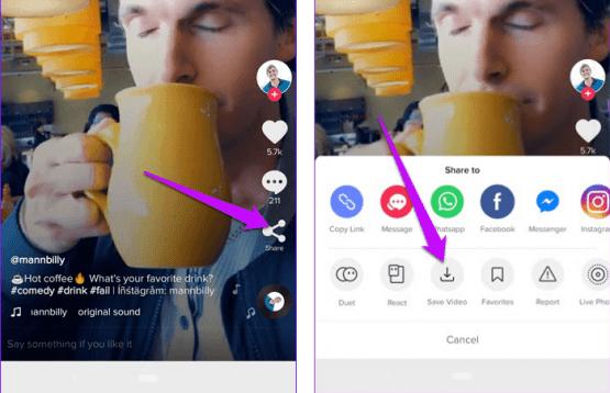 Android TikTok Videolarını indirmek 2018