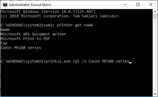 Windows 10'da Yazıcı Kaldırma