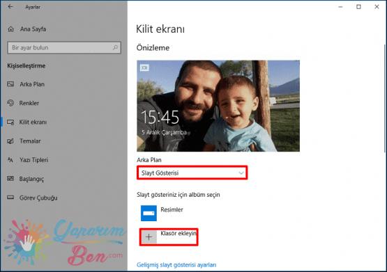 Windows 10 Kilit Ekranı Değiştirme