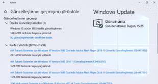 Windows 10 Özellik ve Kalite Güncellemeleri