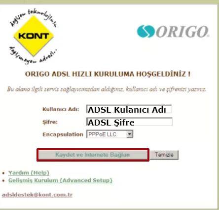 Origo ASR8X00 Modem Kurulumu 03