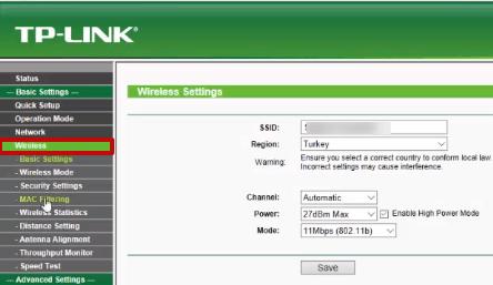 Tp Link WA5210G MAC Filtreleme 03