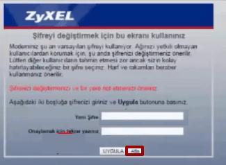 Zyxel P1302-T10D Modem Kurulumu 03